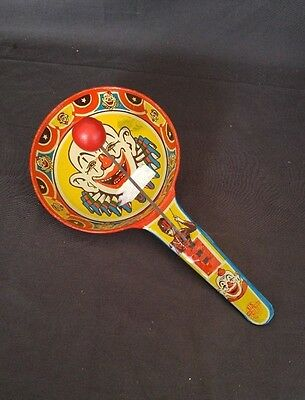 Vintage U. S. Metal Toy Co. Clown Pan Ball Noisemaker Works Great Fully Intact