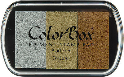 ColorBox Metallic Pigment Ink Pad 3 Colors-Treasure