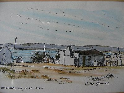 Paternoster Cape, South Africa, landscape w/c by Gina Howard