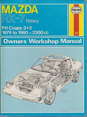 Mazda Rx-7 Rx7 2+2 Sports Coupe 1979 - 1980 Owners Workshop Manual * Hardback *
