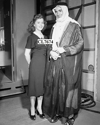 Shirley Temple with Buddy Barasch Donned Arabian Robes on the Movie Set Photo