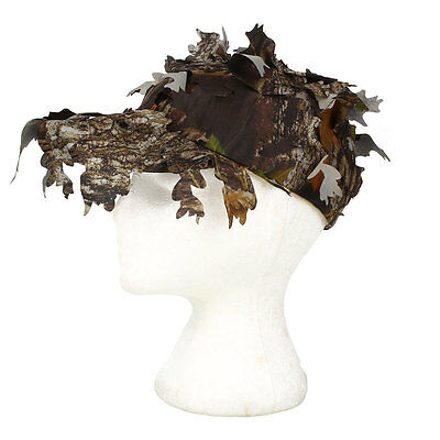 Camouflage Outdoor Tactical Cap Bionic Leaf Camo Hunting Hat Sniper Jungle