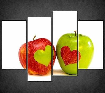Red Green Apples Lovers Cascade Canvas Wall Art Print Picture Ready To Hang