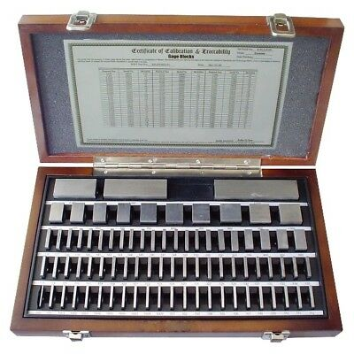 81 Piece Grade As-0/2 Square Steel Gage Block Set (4101-0051)