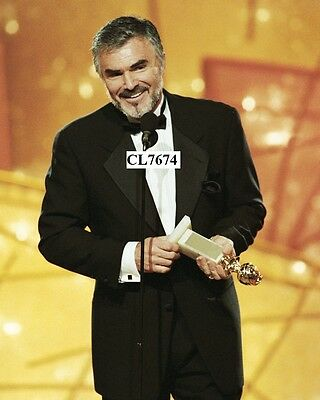 Burt Reynolds Accepts His Supporting Actor Award at Golden Globe Awards Photo