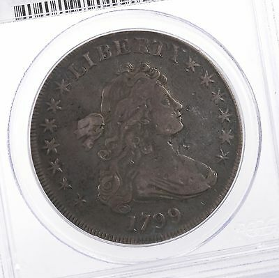 1799 Draped Bust $1 PCGS Certified Genuine VF Details Early US Silver Dollar