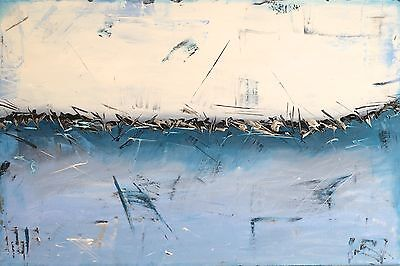 ORIGINAL ACRYLIC CONTEMPORARY LARGE MODERN ABSTRACT PAINTING 90x60cm box canvas