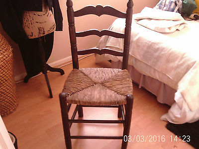 old reeded laderback chair
