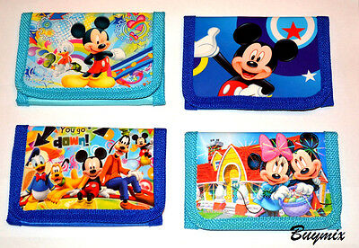 Mickey Mouse Wallet Purse For Boys Girls Gift Stocking Party Bag Filler