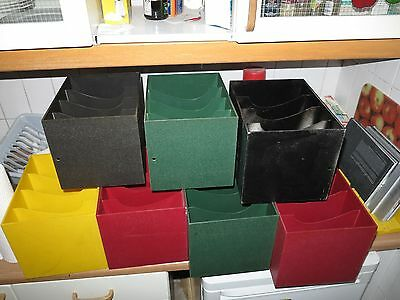 "7 x ORIGINAL SINGLE SINGLES 7"" BOXEN PLASTIKBOXEN AUFBEWAHRUNG REGAL TOP RAR"