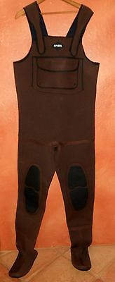 BARE Neoprene Chest Waders Size Large. Dark Brown. Stocking Foot. VeRy NiCe!