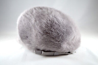 Vintage Grey mohair beret style hat by Kangol design