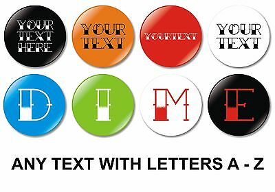 1 x Custom Tattoo Text 32mm BUTTON PIN BADGE Personalised Words Made To Order