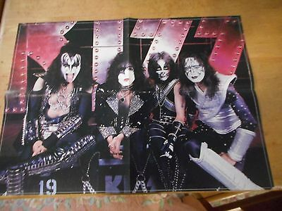Vintage Double Sided KISS Poster KISS Band Members 21x15 #11