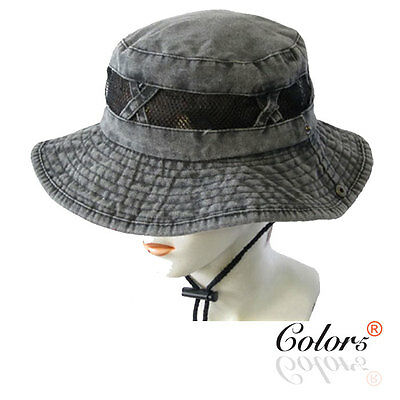 Color5 NEW Men Women Unisex Cotton Bucket Hat Camping Fishing