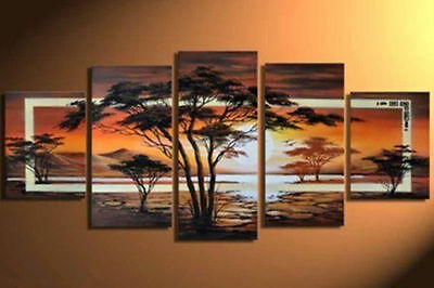 5 piece Large canvas Modern Abstract Art Oil Painting Wall Art Decor NO frame.