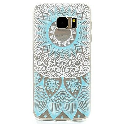 Clear Rubber Soft TPU Silicone Ultra Slim Pattern Cover Case For Samsung Galaxy