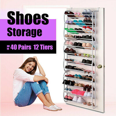 36 Pair Shoe Rack Door Hanging Holder Organiser Shelf Rack Storage Hook