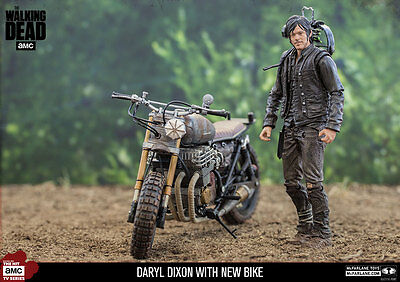 McFARLANE - THE WALKING DEAD - DARYL DIXON WITH NEW BIKE ALEXANDRIA  FIGUR - NEU