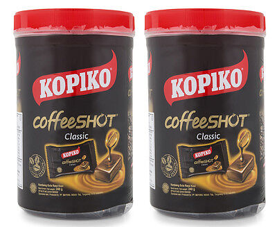2 x Kopiko Classic Coffee Shot Candy Jar 240g