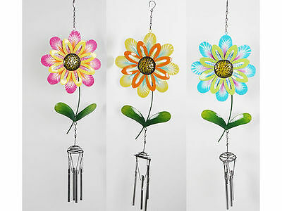 12 garden décor flower winchimes 3 styles 58.5x5.2x18cm bulk wholesale lot