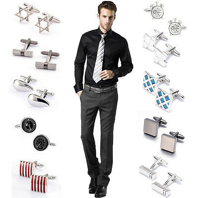 Party Cufflinks Square Wedding Classical Mens Steel Business shirt