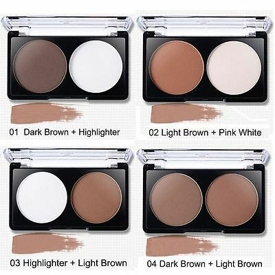 Makeup Face Contour Kit Pressed Powder Bronzer And Highlighter Set Palette New