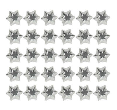 400 Silver Gold Red And Green Milk Chocolate Stars-Christmas Parties Promotions