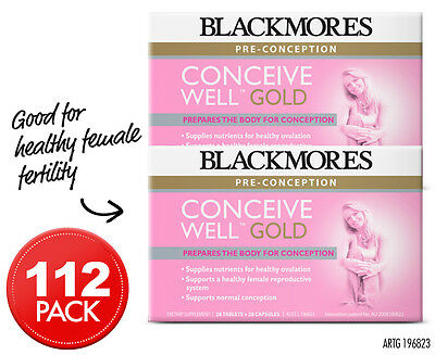 2 x Blackmores Conceive Well Gold 28 Caps + 28 Tabs