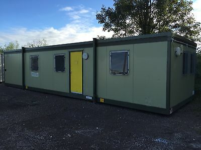 40'x12' portable office cabin, site office, home office.