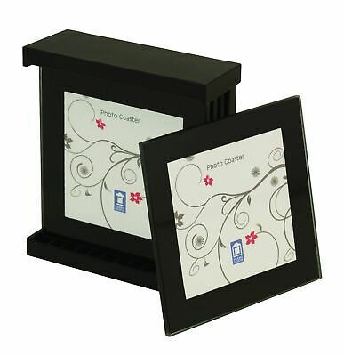 Coaster Set 4 Coasters in a holder Mini Photo Frames Picture Album