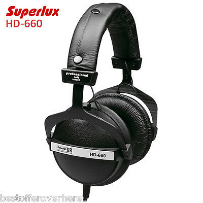 Superlux HD-660 Professional Monitoring Music Headphones ClearSound Soft Earmuff