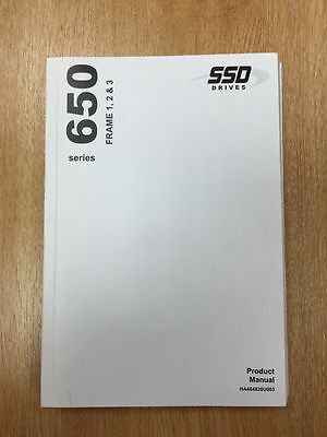 SSD Eurotherm Drives 650 Series Printed Product Manual HA464828U003