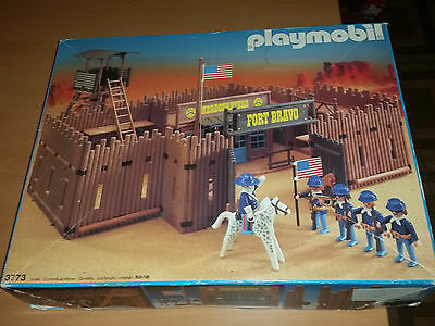 Playmobil System Vintage Fortino Fort Bravo 3773 con box