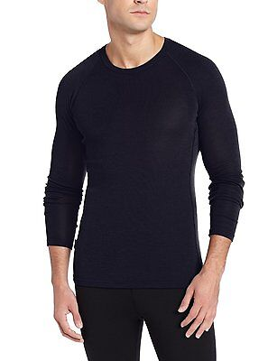 Icebreaker Mens Everyday LS Crewe black Herren Funktionsshirt schwarz