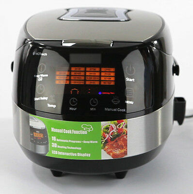 MultiFunction 5L Slow Cooker Kitchen Bake Steam Fry Roast Cook Auto 24Hour Timer
