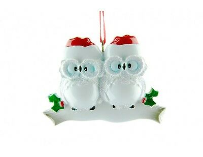 Personalised Christmas Decorations Owl Family of 2