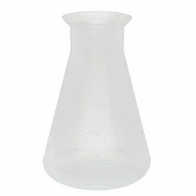 Chemistry Laboratory 2000ml Plastic Cone Measuring Cup Thicken Clear