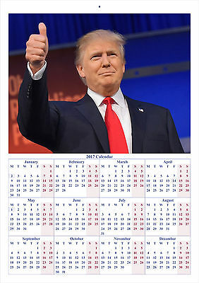 Donald Trump - 2017 A4 CALENDAR **BUY ANY 1 AND GET 1 FREE OFFER**