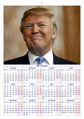 Donald Trump V2 - 2017 A4 CALENDAR **BUY ANY 1 AND GET 1 FREE OFFER**