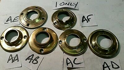 CAST BRASS BACK PLATE for WOOD WOODEN or brass door knobs LARGE 58mm x 25 & 26mm