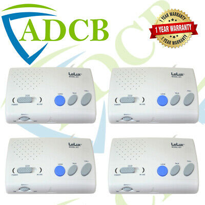 4-Way Hands Free 4Ch Wireless Intercom Receiver Push To Talk Ring Main