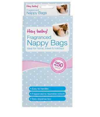 250 Fragranced Disposable Nappy Bags Ideal For Home, Travel And Holidays