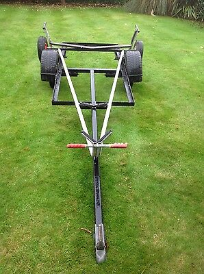 LASER COMBI TRAILER WITH GALVANISED DINGHY DINGY TROLLEY box