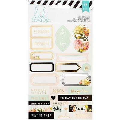 Stickers Word Jumble 3 Sheets w Foil B W /& Clear Heidi Swapp Memory Planner