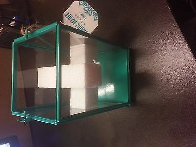 Glass Candle Holder - Teal