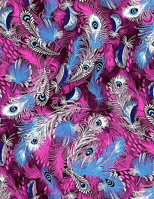 Decopatch Decoupage Wrapping Paper Purple Peacock Feather - 3 Sheets 395x228mm