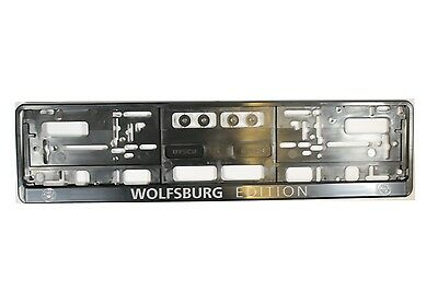 2 x Wolfsburg Edition Effect Number Plate Holder Surround Car Number Plate
