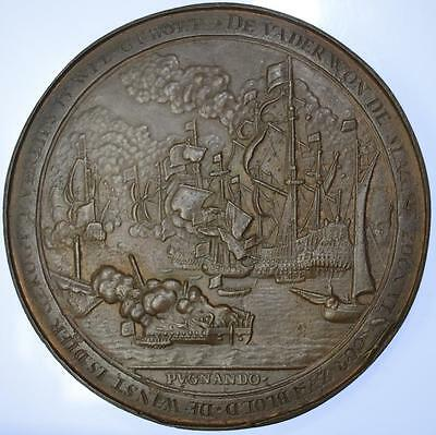 Anglo - Dutch War - 1673 Death of Captain Zweerts at Battle of Texel medal