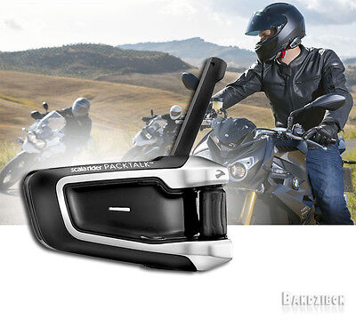 Cardo Scala Rider Packtalk Bike To Motorcycle Intercom Communication Headset